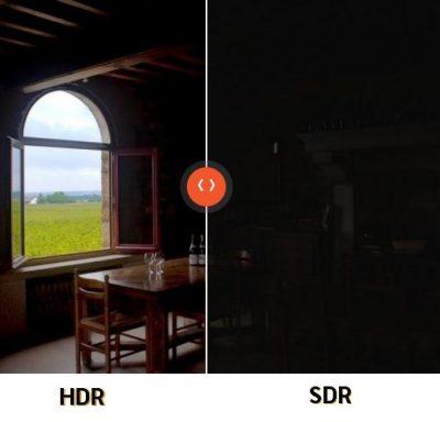 exemple TV HDR par Sony