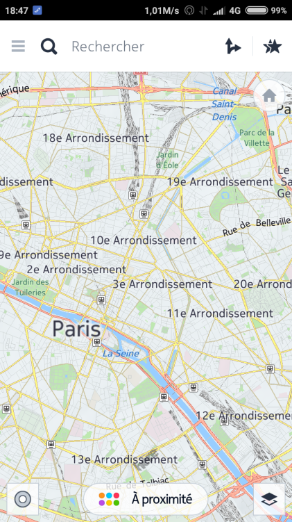 carte here maps pour android
