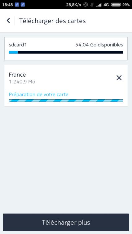 téléchargement cartes sur here maps android