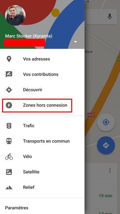 telecharger cartes google maps hors connexion