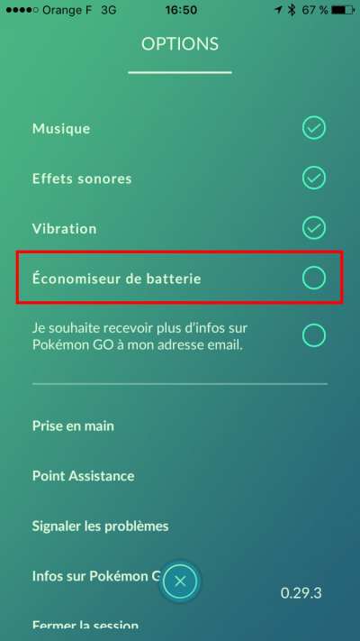 economiseur de batterie pokemon