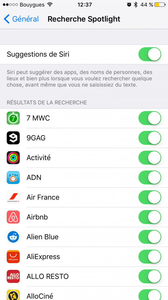 activation Siri iOs