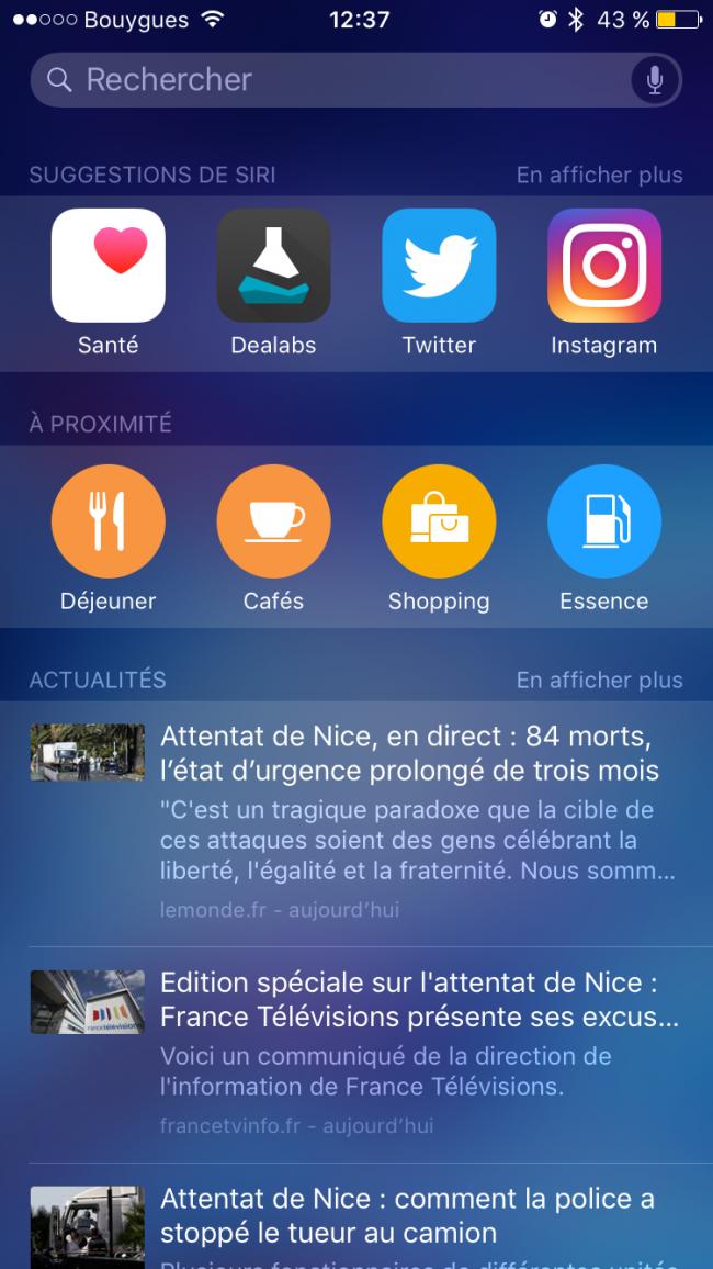 suggetion Siri iOS