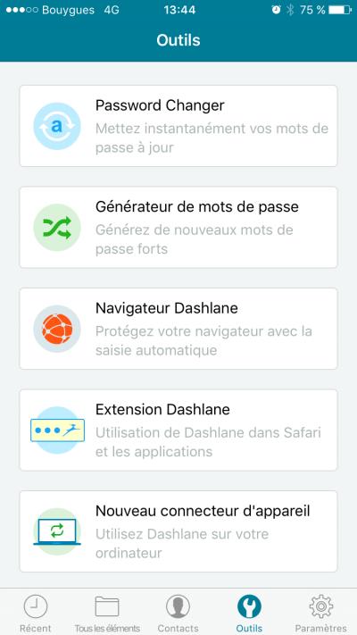 Dashlane pour iOS