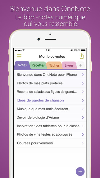 OneNote pour iOS