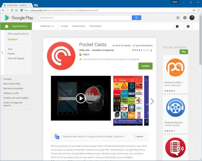 PlayStore desktop