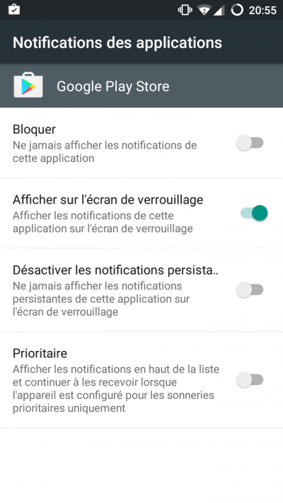 notification apoplications android