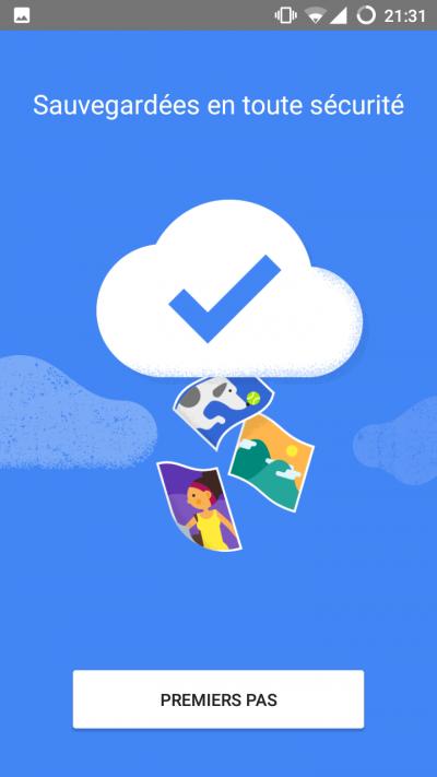 sauvegarde photos android