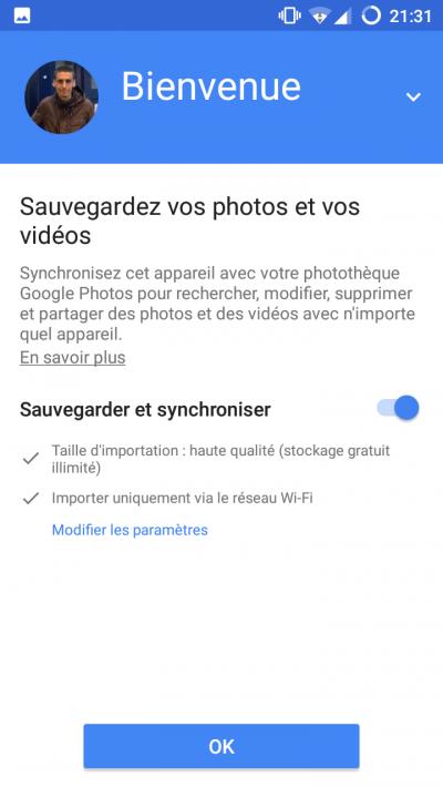 synchroniser photos android