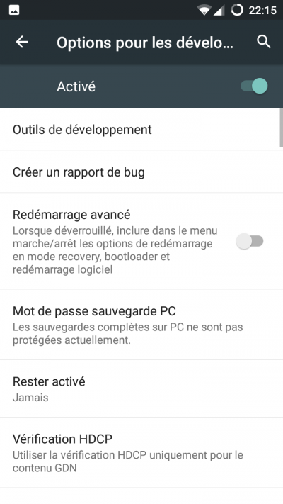 A propos tel android