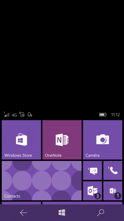 mode une main windows mobile 10