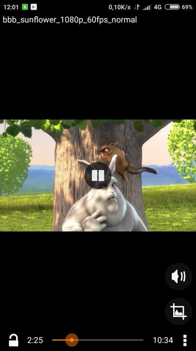 lecture vidéo sur VLC pour Android