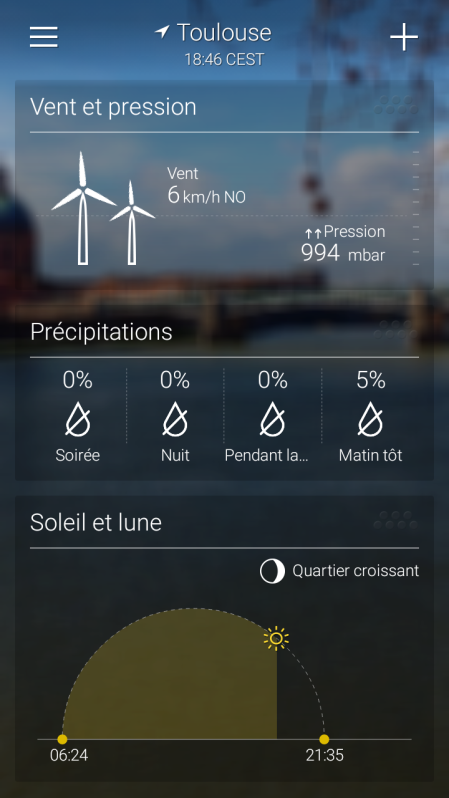 yahoo meteo sur google android