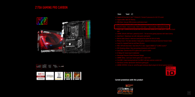 Z170A GAMING PRO CARBON - MSI