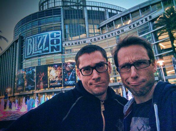 Lona et Julien Petroons lors de la couverture de la BlizzCon