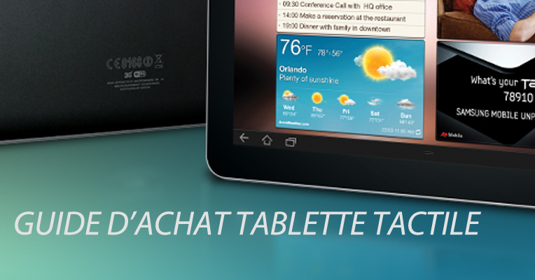 guide d'achat tablette tactile