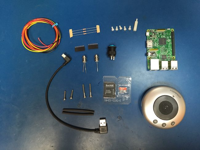 Quelques composants du talkiepi