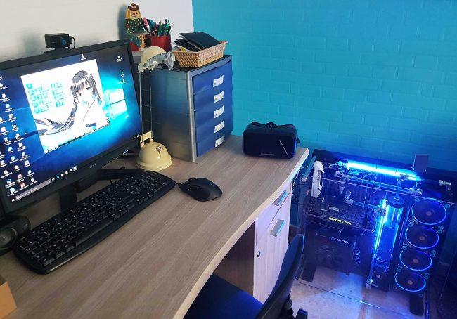 Le PC et l'Oculus DK2 (cliquez pour zoomer)