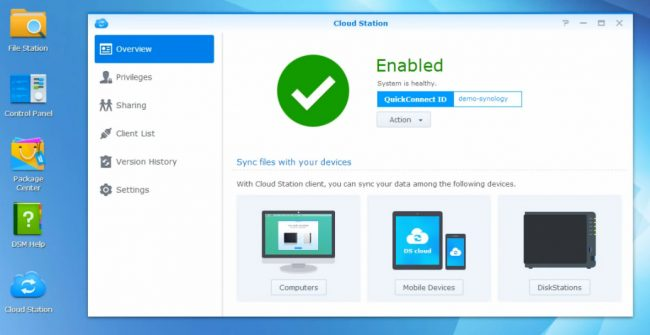 interface synology