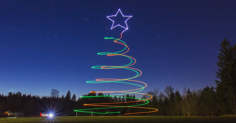 lightpainting avec des drones
