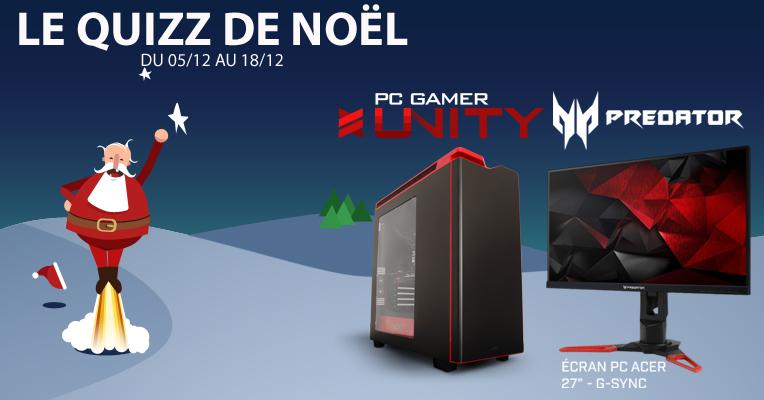Le quiz de Noël : un PC gamer Materiel.net et un écran Acer Predator à gagner !