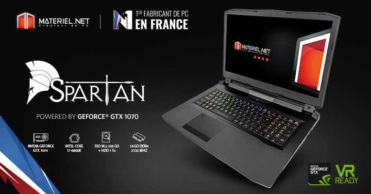 pc portable gamer spartan par materiel.net