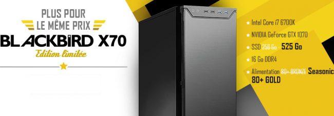 PC gamer Materiel.net blackbird x70