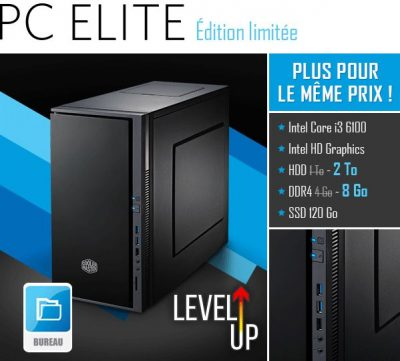 PC materiel.net elite lvlup