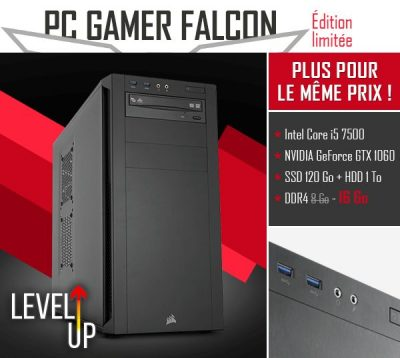 PC gamer Materiel.net falcon lvlup
