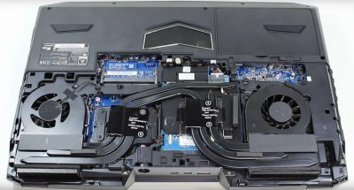 Intérieur du pc portable Spartan