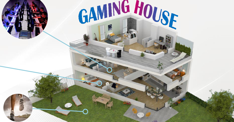 gaming house pour gaming inside experience