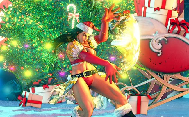 costume de Noël pour Street Fighter