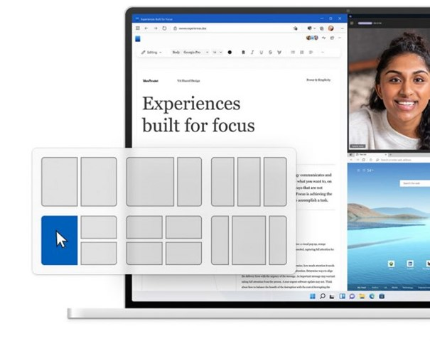 Aperçu de la nouvelle gestion des fenêtres sous Windows 11